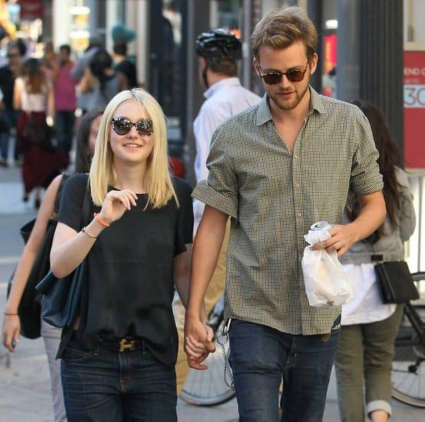 Dakota Fanning with Jamie Strachan