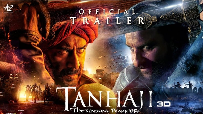 Tanhaji The Unsung Warrior Official Trailer 2019