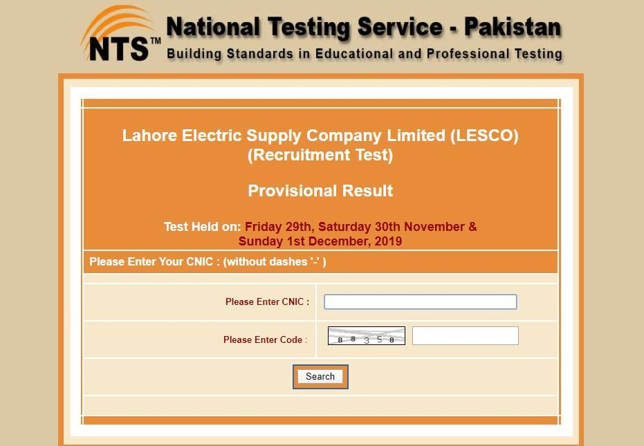 Lahore Electric Supply Company Limited LESCO Results