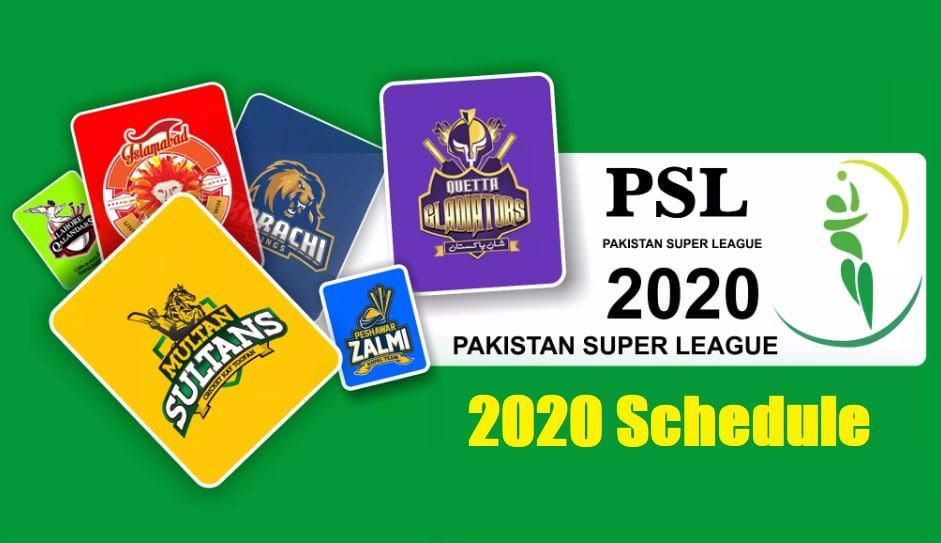 Pakistan Super League 2020 Schedule