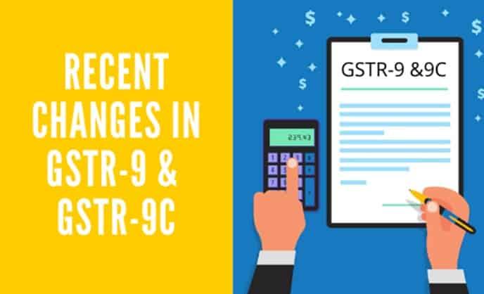 GSTR9 and GSTR9C