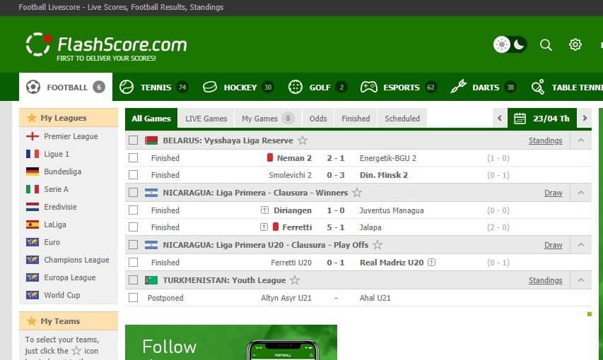 Live Soccer score