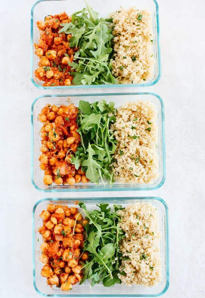 Spicy Chickpea Quinoa Bowls