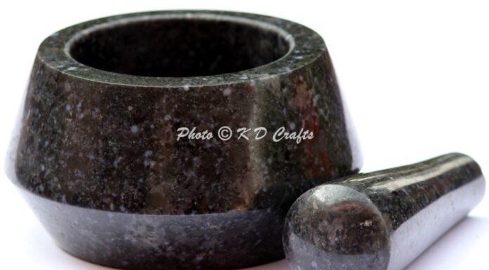 Unique Marble Mortar Pestle