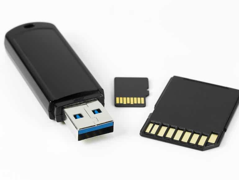 Flash drive or USB memory
