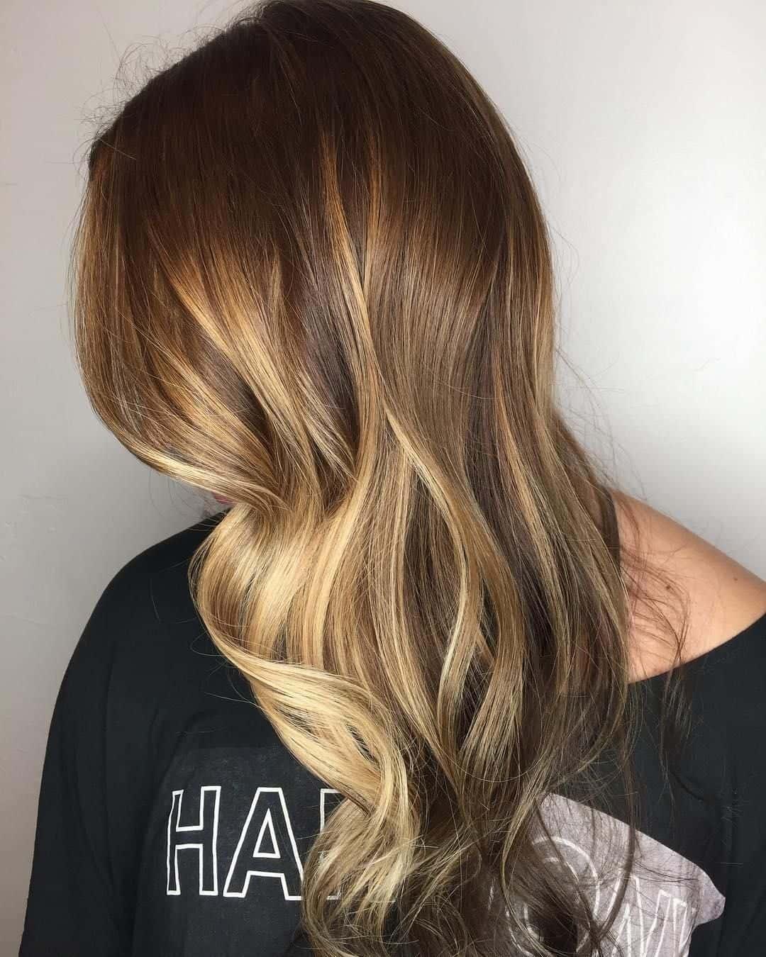 Golden blonde color melt