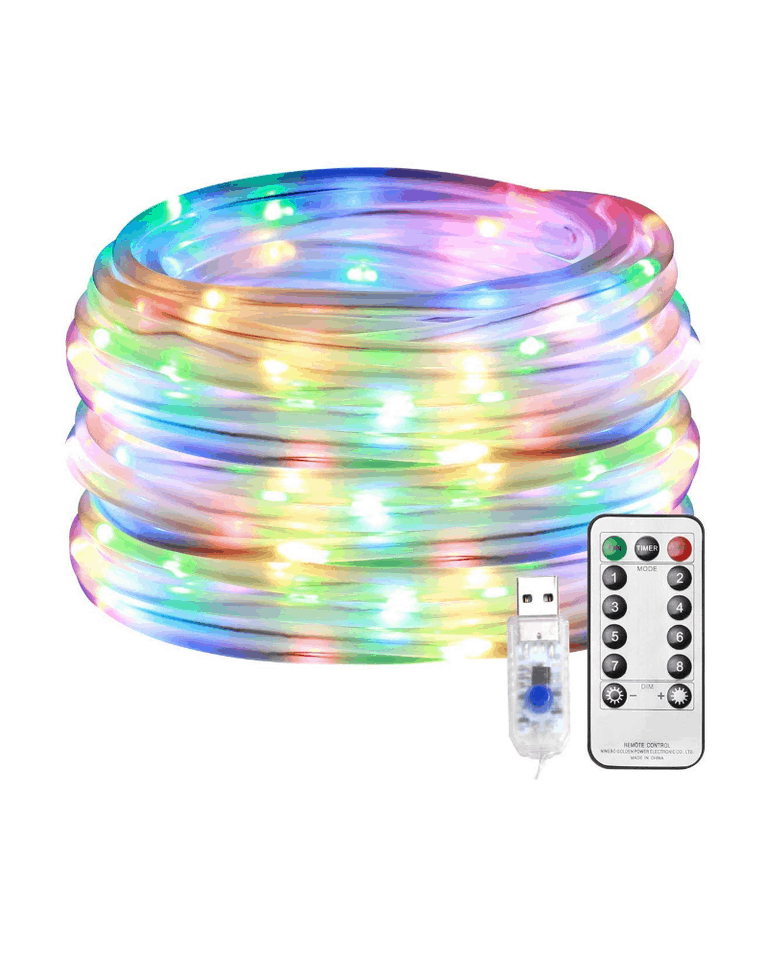 33' Dimmable Multi-Colored LED Rope Light